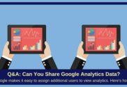 how to share google analytics data