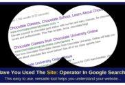 site: operator in Google search